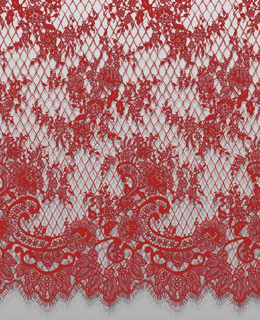 シームレスなベクトルの詳細な赤いレース パターン