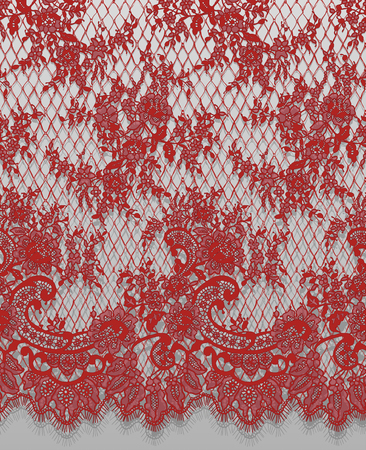 Un vector transparente detallado patrón de encaje rojo Foto de archivo - 91028347