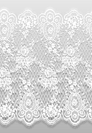 シームレスなベクトルの詳細な白いレース パターン