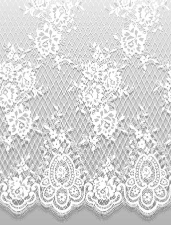 Vector transparente detallado patrón de encaje blanco Foto de archivo - 91003945