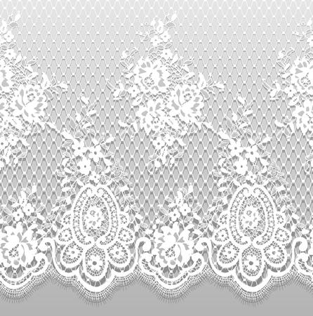 원활한 벡터 상세한 화이트 레이스 패턴 스톡 콘텐츠