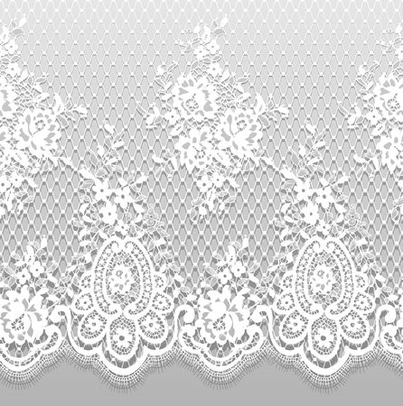 Seamless Vector Detailed White Lace Pattern Zdjęcie Seryjne
