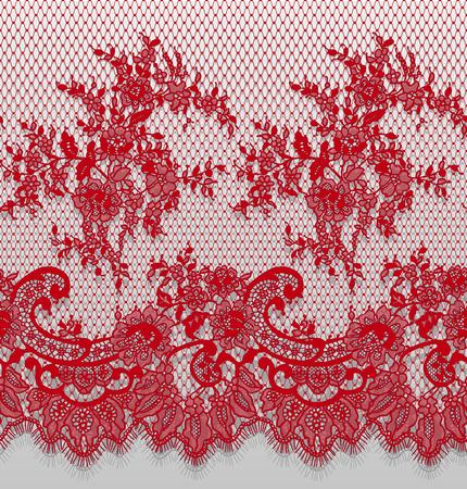 Vector transparente detallado patrón de encaje rojo Foto de archivo - 91201855