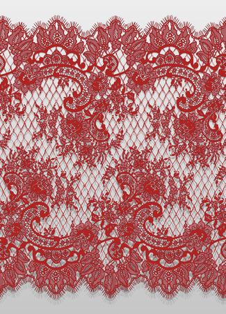 Vector transparente detallado patrón de encaje rojo Foto de archivo - 91279163