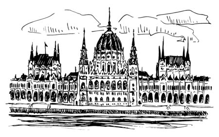 Parlament Palace In Budapest In Hungary