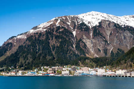 Mount Juneau and the city of Juneau, capital city of Alaska
