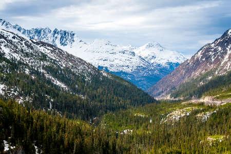 Scenic view from the Klondike Highway near William Moore Creek, Alaska
