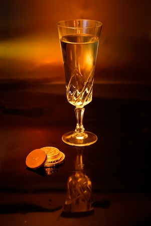 fluted: Wine and Chocolate Stock Photo