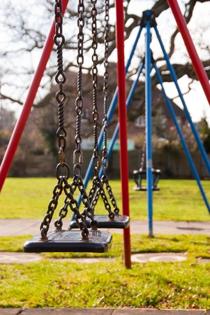 Swings in Playgrounds Stock Photo - 12776642