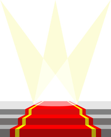prestige: Red carpet for VIP persons, and lighting. Vector illustration does not contain transparency effects and overlay Illustration