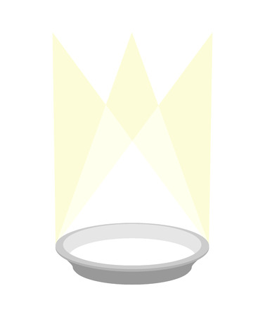 empty plate: Empty plate podium with lighting. Place for a product or food. Vector illustration Illustration