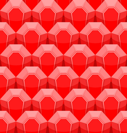 ruby: Ruby seamless pattern. Vector background of Red gems.