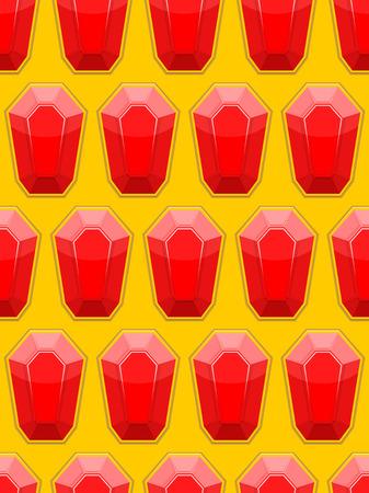 precious stones: Precious stones seamless background. Red jewelry stones rubies. Vector pattern Illustration