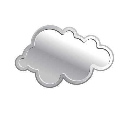 reliable: Metallic cloud. Iron sky on a white background. Vector illustration. Reliable preservation information