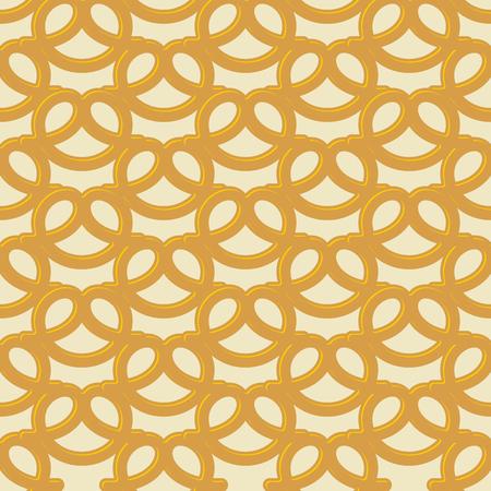 national holiday: Beer snack seamless background. Vector pattern pretzel.  National holiday Germanys Oktoberfest beer Illustration