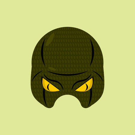 protective mask: SuperHero mask snake. Reptile protective mask for person. Vector illustration. Illustration