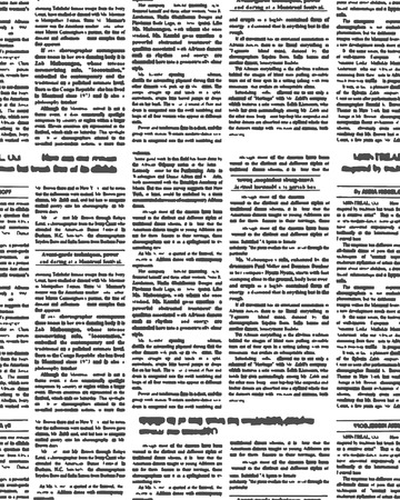 Nuevo periódico sin patrón. Vector de fondo del texto periodístico con las partidas. Ornamento abstracto