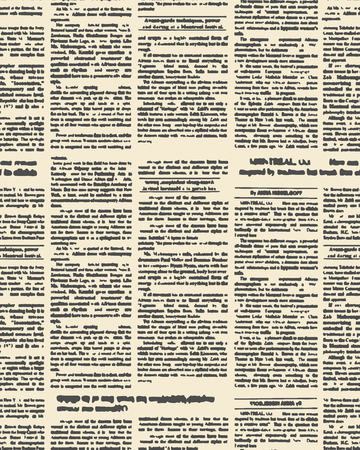 古い新聞のシームレスなパターン。ヴィンテージ新聞の見出しと本文のベクトルの背景。レトロの生地の飾り