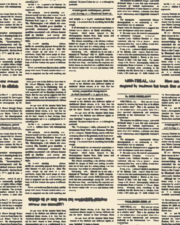 Periódico viejo patrón. Vector de fondo del texto del periódico del vintage con las partidas. Ornamento tela Retro