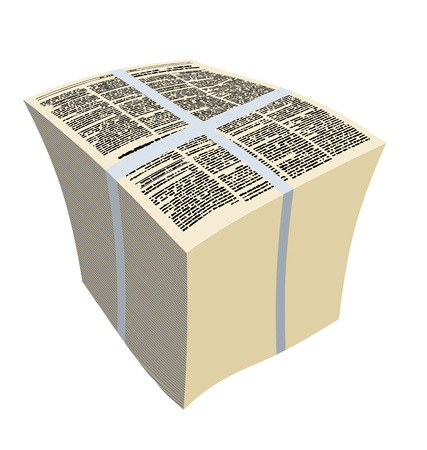 pile of newspapers: Bundle newspapers. Stack of magazines. Vector illustration Illustration