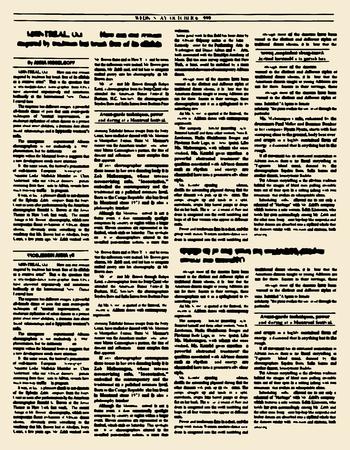 古新聞。ビンテージ雑誌のページ。ベクトルの図。黄色のレトロな紙のページ