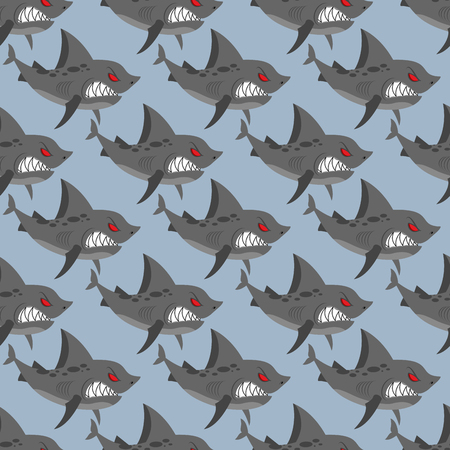 toothy: Terrible shark. Pack of sharks seamless background. Marine Pattern to  fabric. Toothy fish
