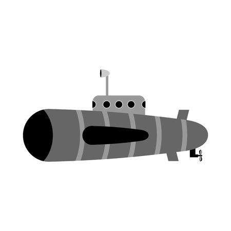 periscope: Retro submarine. Ship to swim underwater with periscope.
