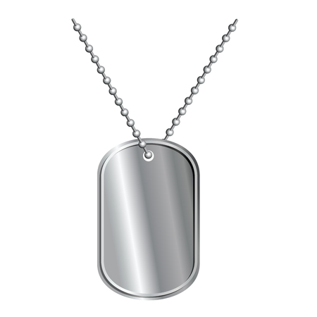 Army badge on  chain. Soldiers death Medallion. Pure metal badge.