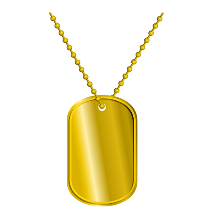 precious metal: Golden Badge soldier. Army Medallion for rich of precious metal. Pure Military pendant on chain. Luxury badge for military