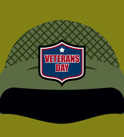 american soldier: Patriot day. Emblem on  soldiers helmet. Military helmet. Traditional celebration of America.