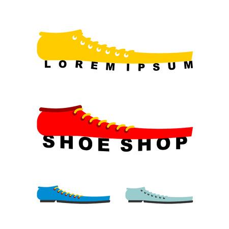 shoe store: Emblem for shoe store or shoe production.