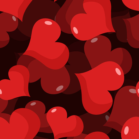 february 14: Love 3D seamless pattern. Red heart background. Texture for Valentines day. February 14 holiday for lovers. Illustration