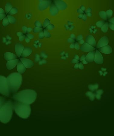 shamrock clover: Green clover 3D. Green Shamrock clover background. Background of plants Illustration