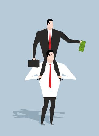 stimulation: Business motivation. Boss stimulates manager job. Director sitting on neck of an employee. Monetary stimulation. Dollar in hand. Cash earnings. Award at work