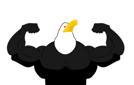 talons: Strong Eagle athlete. fitness bird.