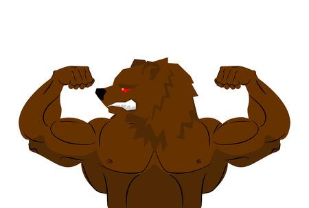 physique: Aggressive strong Bear Bear athlete.