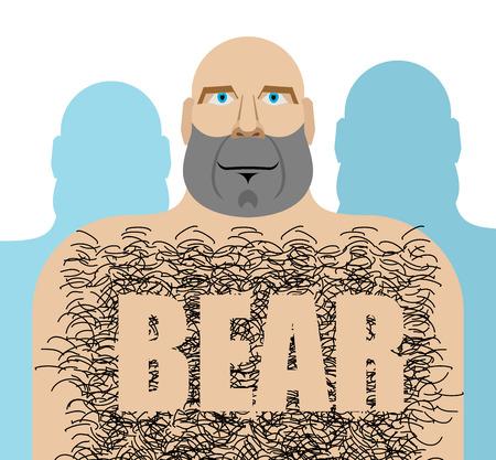 wedding parade: Gay bear. Big hairy man. LGBT community