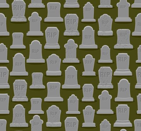 gravestone: RIP seamless pattern. Old gravestone ornament. Cemetery background. Tomb texture. Grave Ancient. Tombstone With cracks