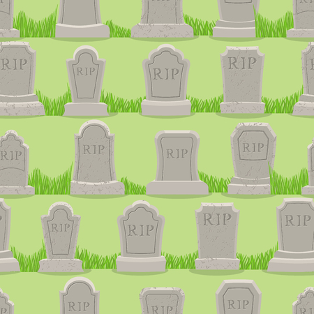 rip: Old gravestone ornament. Tomb seamless pattern. Cemetery background. rip texture. Grave Ancient. Tombstone With cracks Illustration