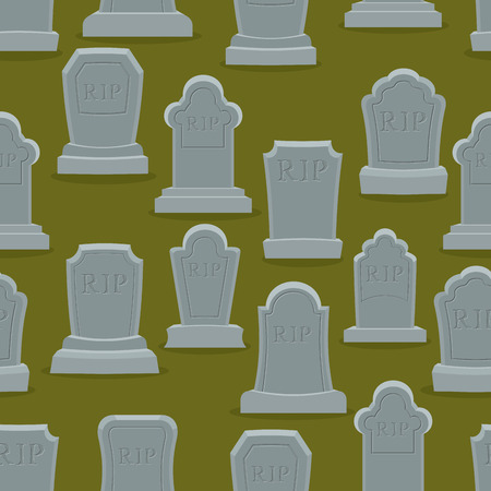 rip: Tombstone seamless pattern. Old gravestone ornament. Cemetery background. rip texture. Grave Ancient. Tombs With cracks