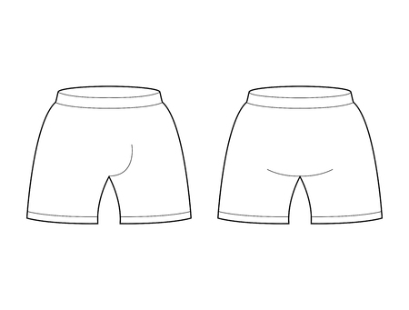 briefs: Shorts template for design. Sample for Sports football clothing. Briefs blank curve