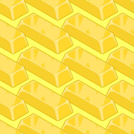 richness: Gold bullion seamless pattern. Golden ingot of precious metal background. Richness of texture. Jewel ornament