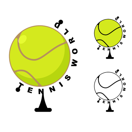 bounce: Tennis world. Game ball Globe. Sports accessory as earth sphere. Scope of game Tennis