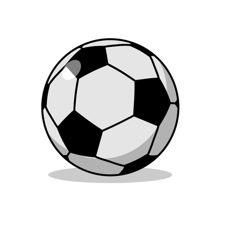 footy: Soccer ball isolated. Sports accessories for football. Scope for sports game