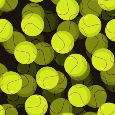 Tennis ball 3d seamless pattern. Sports accessory ornament. Tennis volume background. Texture for sports game with ball Illustration