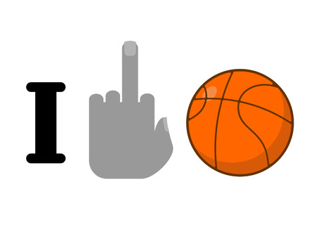 hatred: I hate basketball. Fuck symbol of hatred and ball. Logo for anti fans