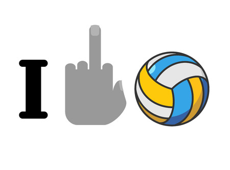 hatred: I hate volleyball. Fuck symbol of hatred and ball. Logo for anti fans