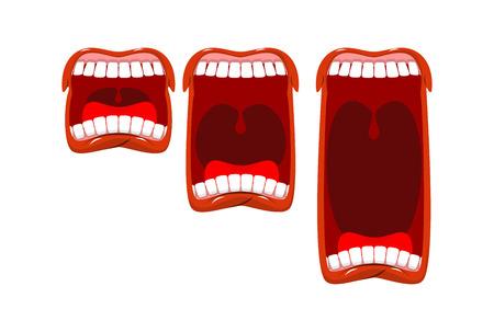 볼륨 울기. 고함 소리. 무대 무대. 혀와 이빨로 입을 벌리십시오. 소음 수준의 변화