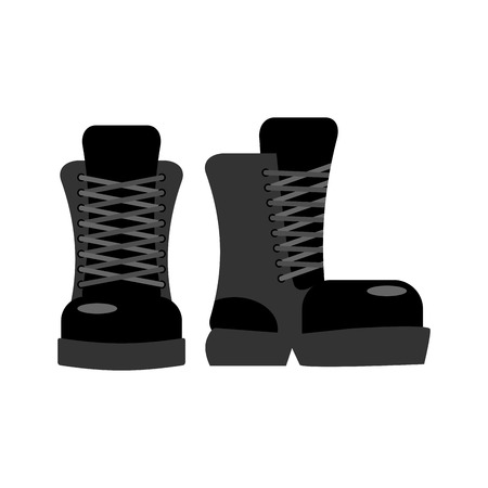 footwear: Military footwear. Soldier special shoes. army boot