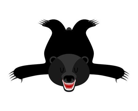 bearskin: Bearskin Baribal. Skin of American black bear. Hunter trophy isolated. Fur Carpet